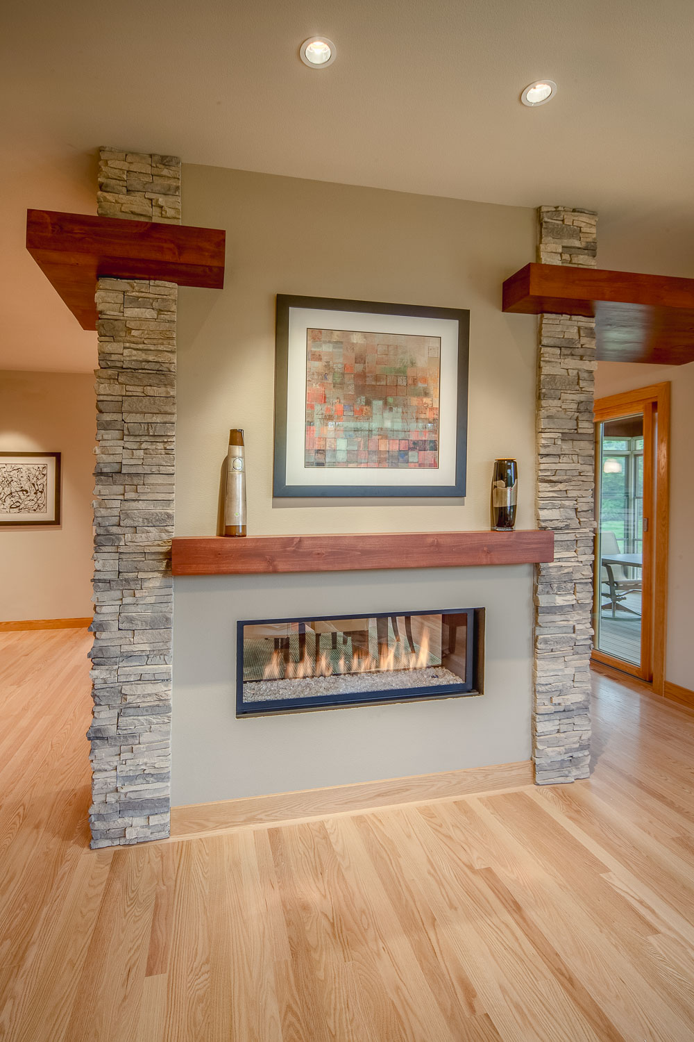 Home Remodeler, Madison WI See Through Fireplace