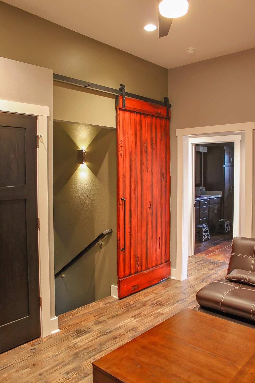 Red Painted Barn Door