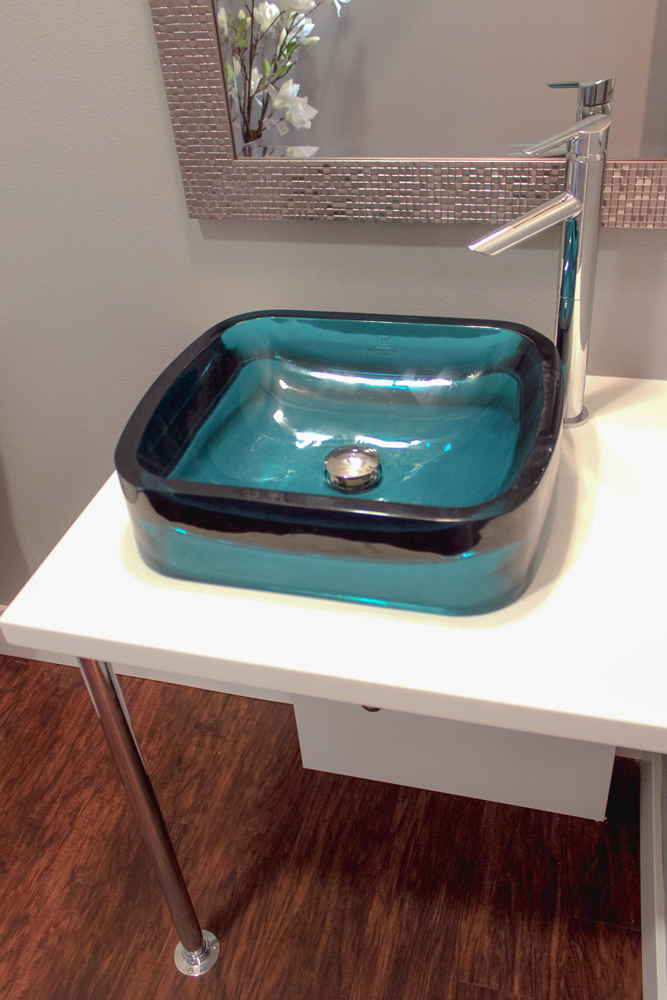 Vessel Sink in a Universal Designed Vanity