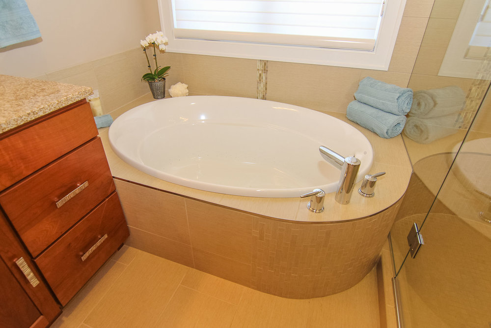 Soaking Tub In The Master Bathroom