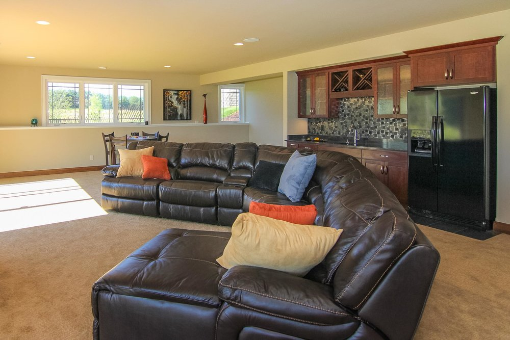Sectional Seating with Flat Screen Television