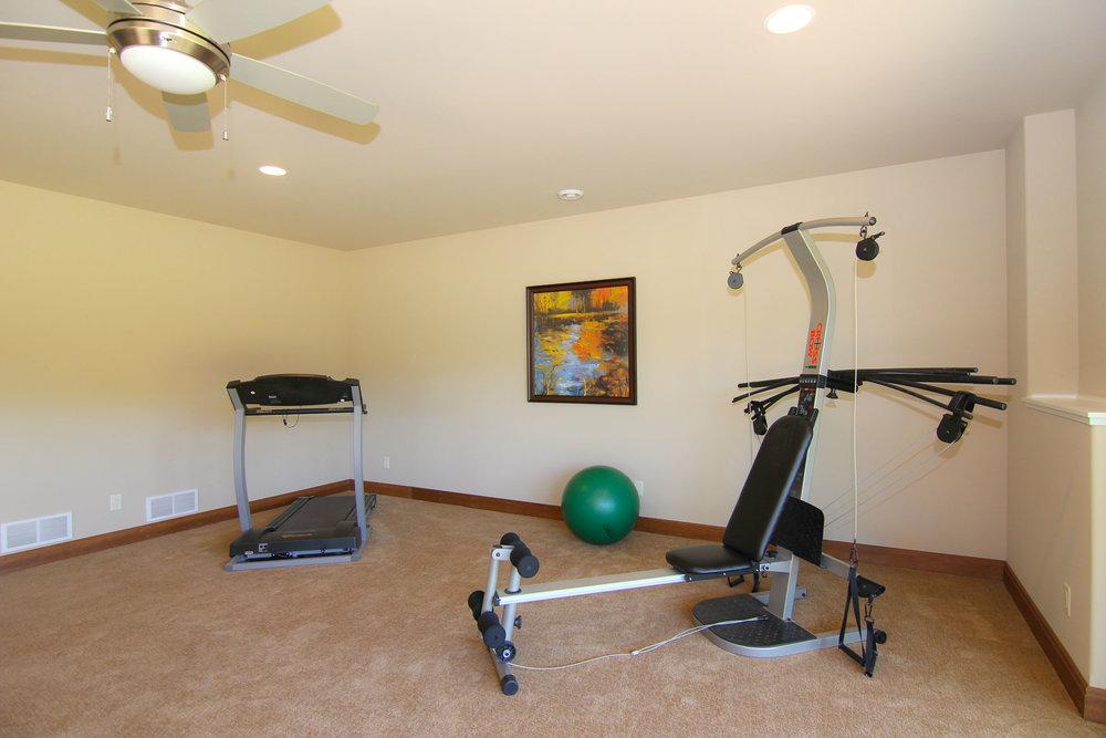 Finished Basement exercise room