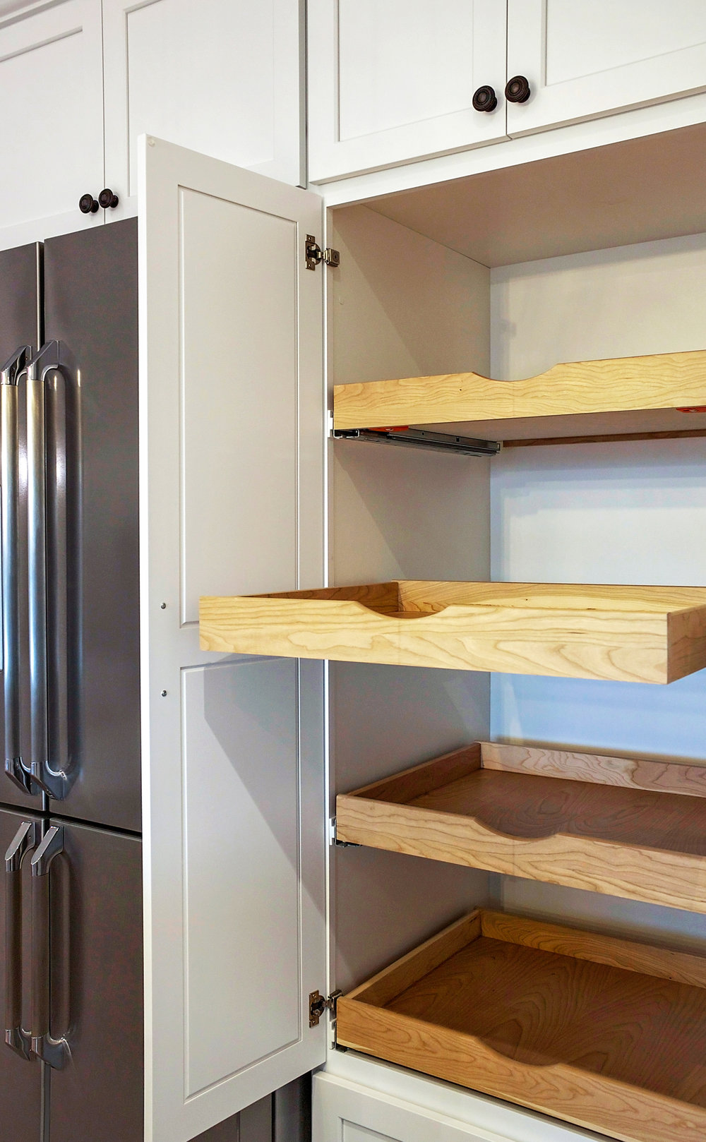 Kitchen Pantry with pull Outs