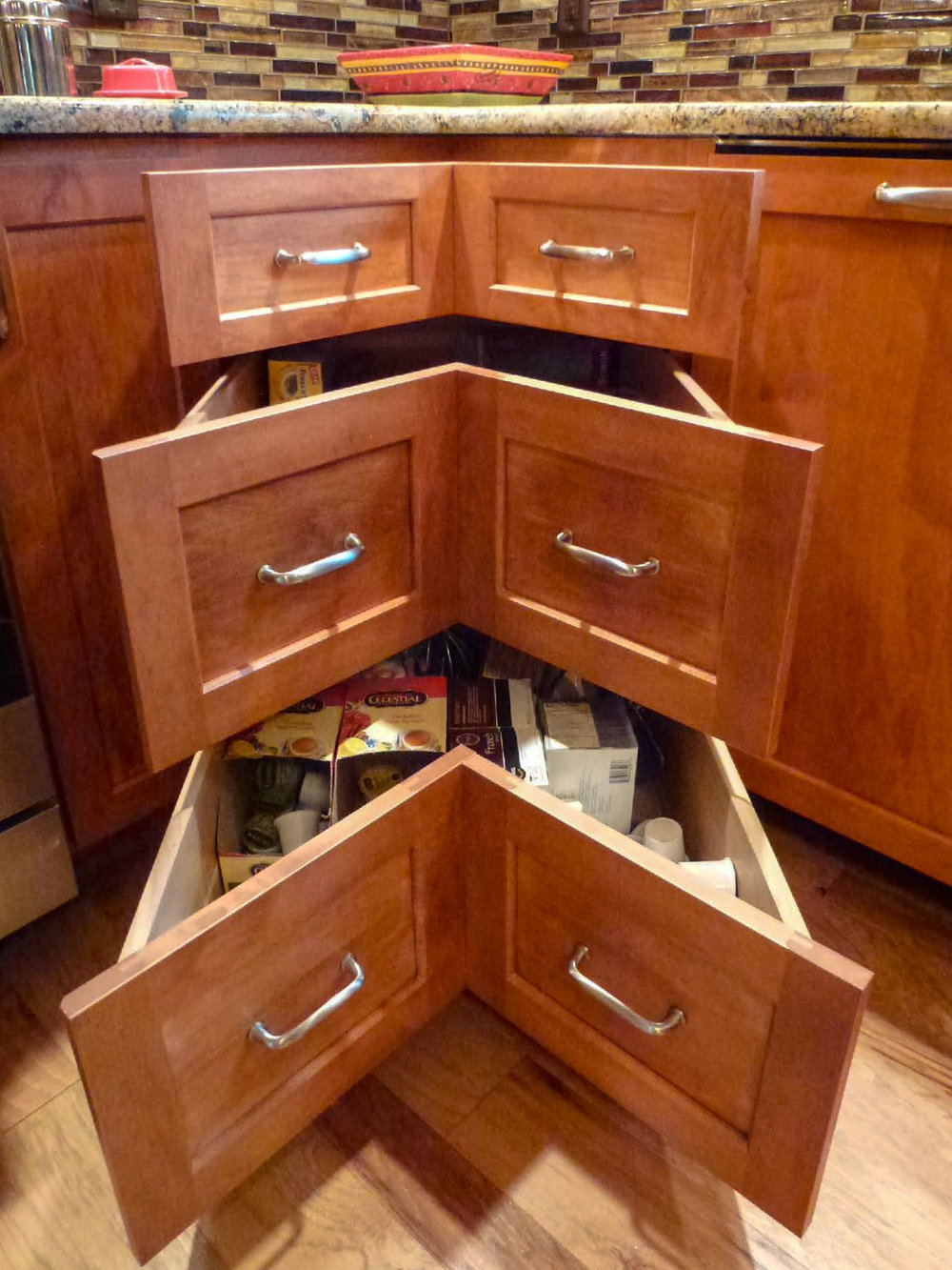 Corner Kitchen Cabinet Drawers