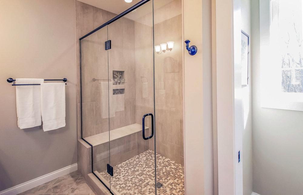 Custom Master Bathroom With An Oversized Shower