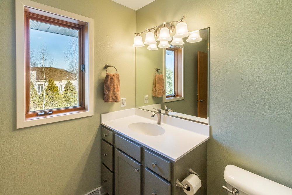 Master Bath Remodel Vanity and New Window Madison, WI