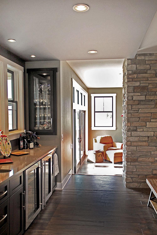 Wine refrigerator and beverage center - Kitchen remodeling Madison, WI