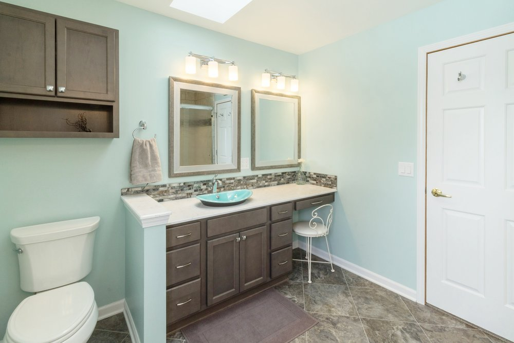 Master Bathroom Design with Makeup Counter
