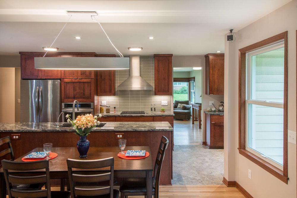 Open Concept kitchen Design and Remodeling Midvale heights Madison Wisconsin