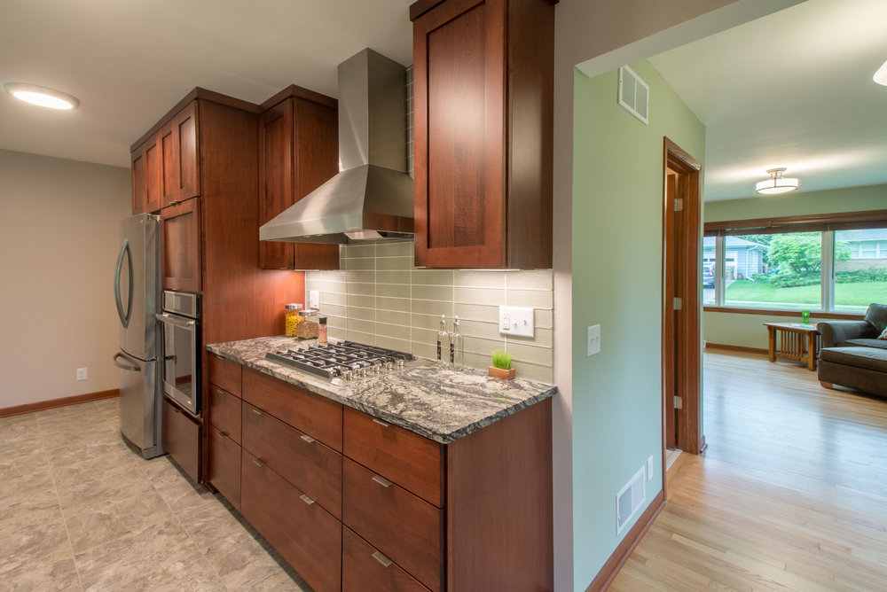 Open Concept kitchen layout Midvale heights Madison Wisconsin