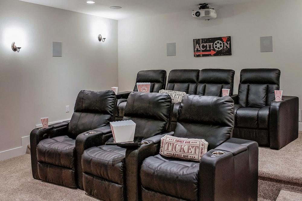 Finished Basement Screening Room