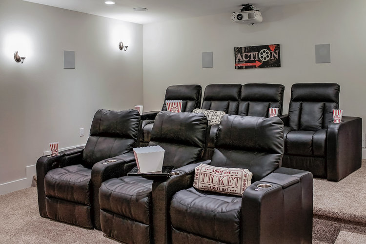 Finished Basement Home Theater Ideas And Construction Design Tips Classy Basement Home Theater Ideas