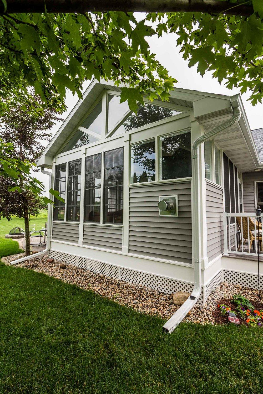 Three Season Porch With Large Windows