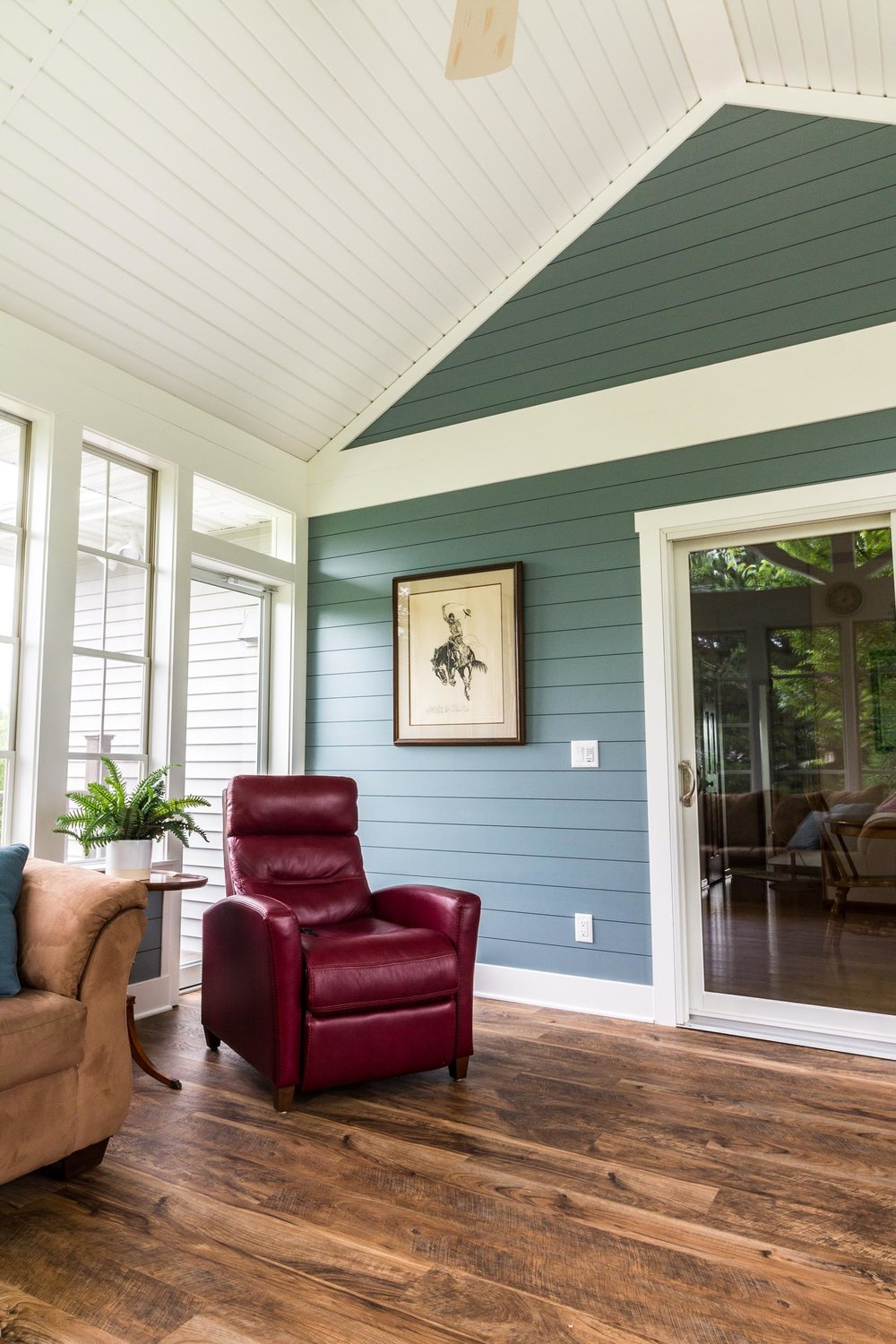 Porch With Luxury Vinyl Plank Flooring