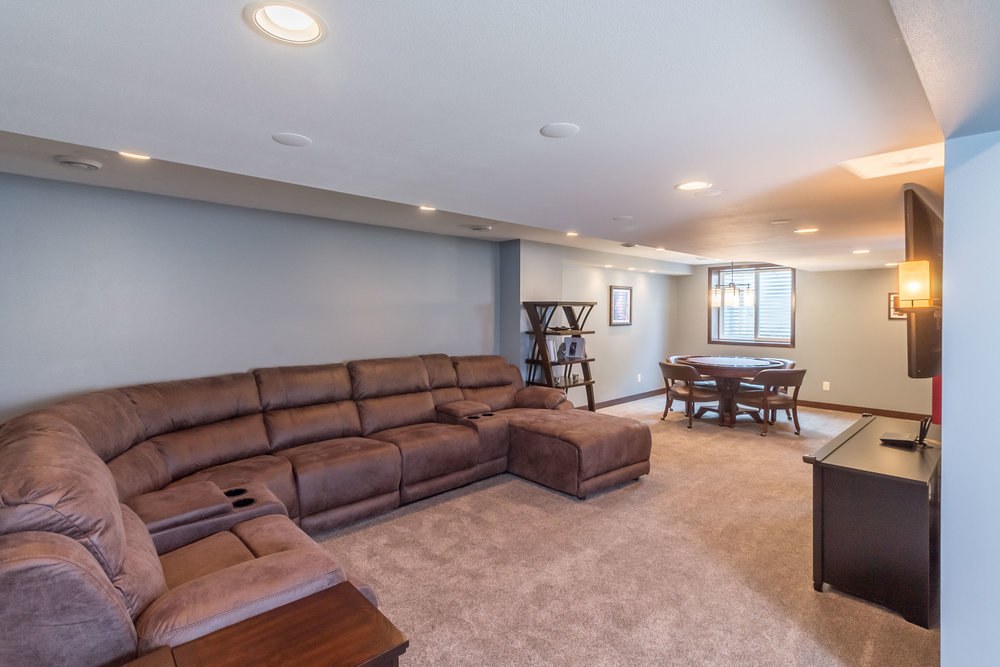 A New Finished Basement in Sunnybrook, DeForest, WI