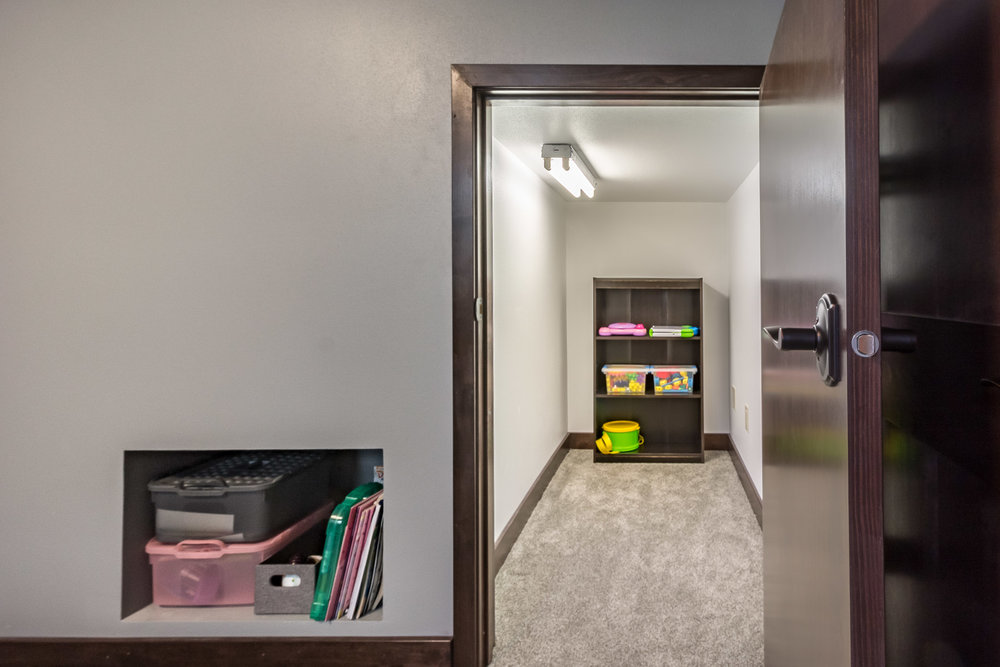 Finished Basement Storage and Closet Space