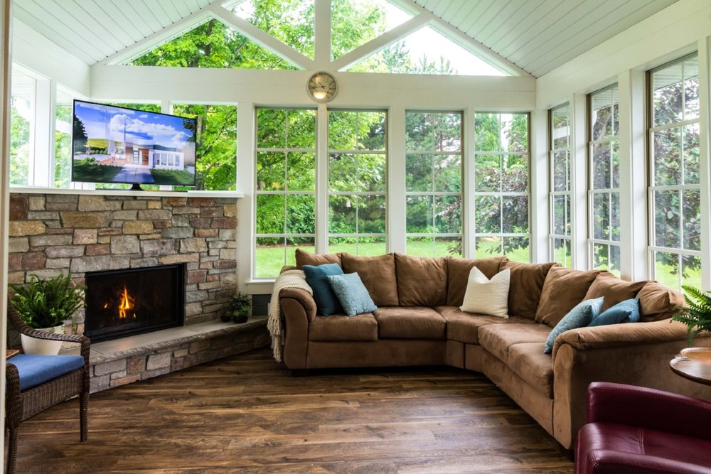 Sunroom Addition for a Ranch Home - Sometimes, a sunroom addition can be exactly what is needed.