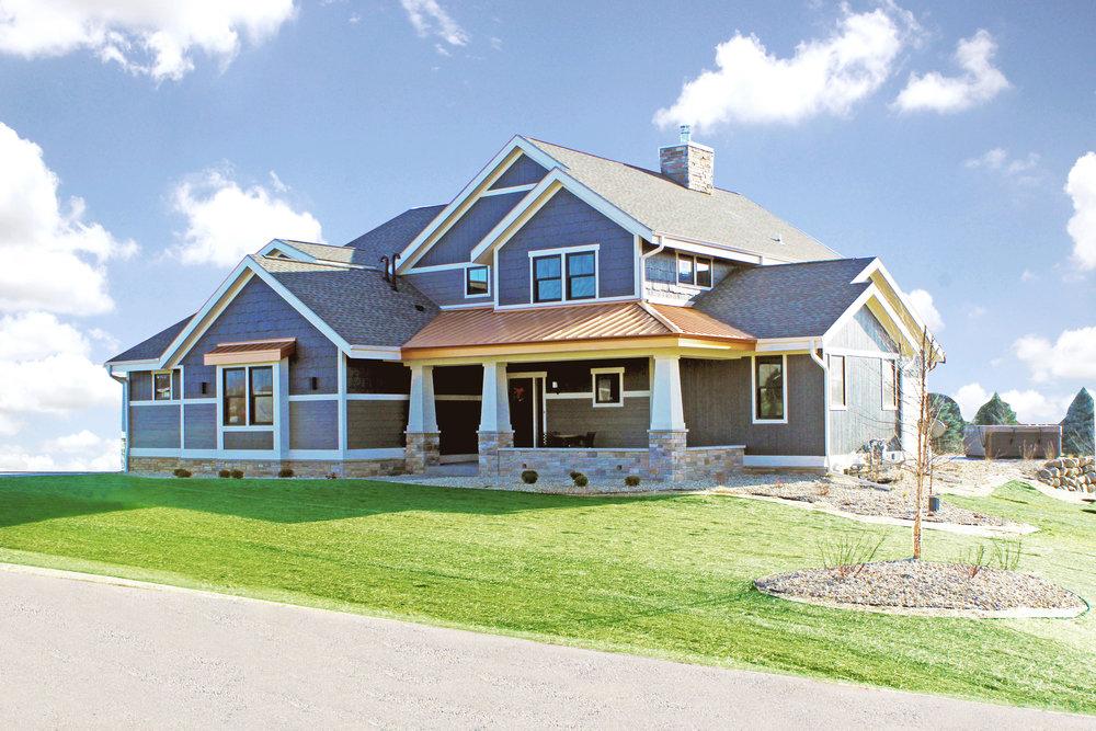 Custom Contemporary Craftsman Home Sun Prairie WI