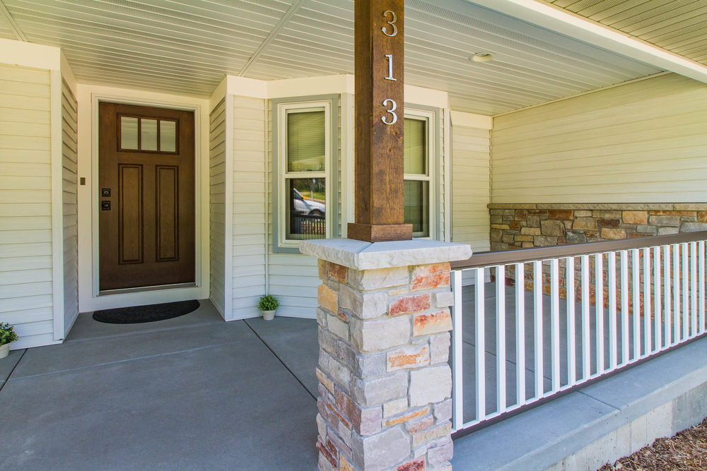 Ranch Home Porch Design and Remodel
