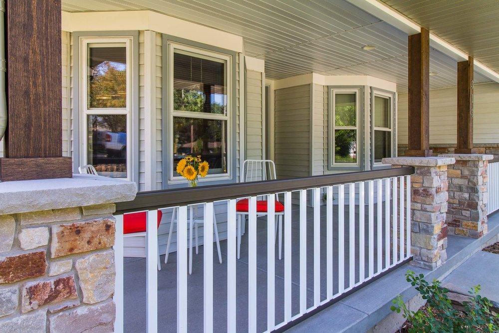 Ranch Home Remodele Porch Design