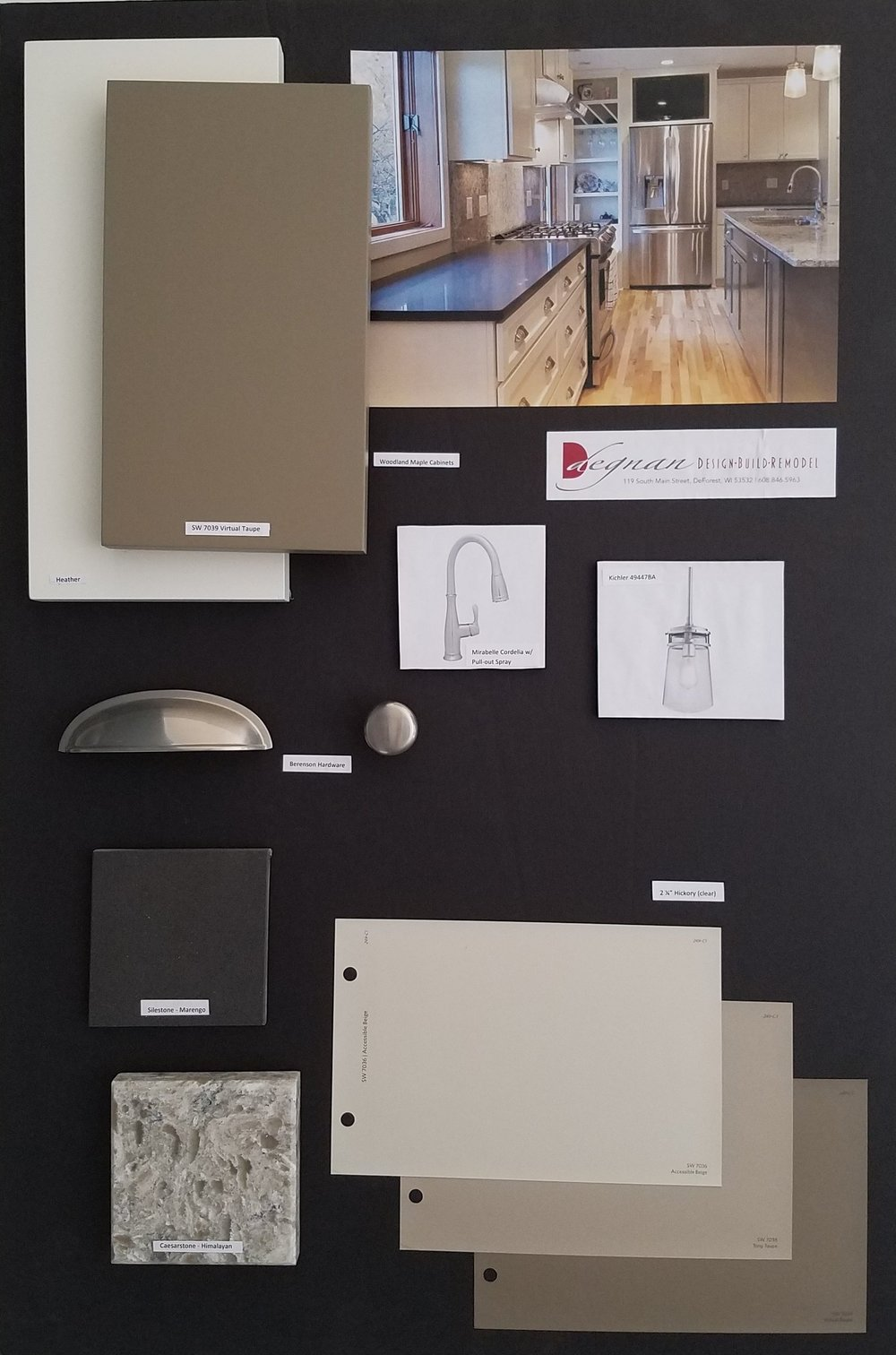 - A design board, prepared by you or by your remodeling designer, can serve as part of the communication process to be sure you get the results you want.