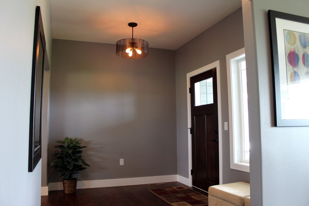 - An entry foyer must be sized properly for wheel chair accessibility and while the door looks the same, it needs a special low-profile sill to allow a chair to roll over easily.