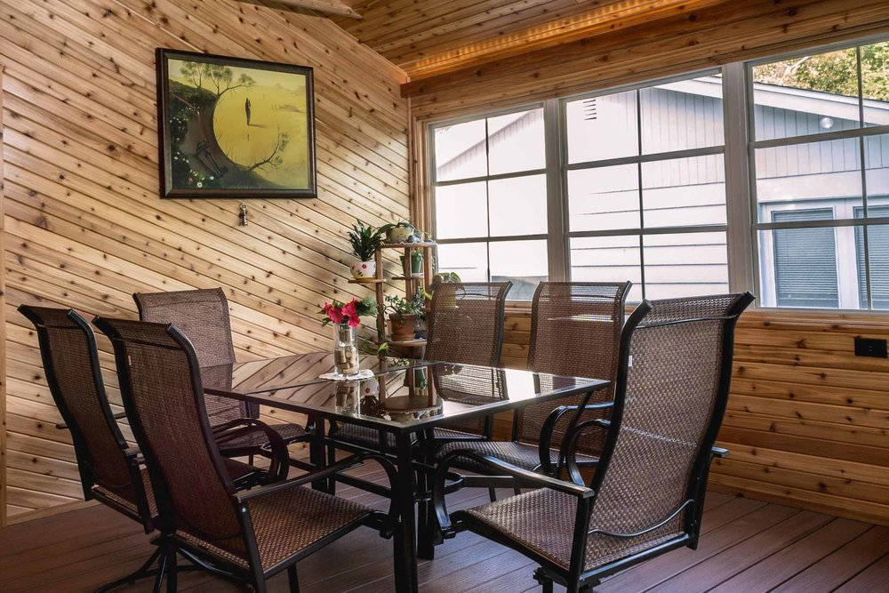 - This back porch was converted to a 3-season room. Complexities of building code will need to be navigated by your design-build-remodel company as there are particular requirements about whether a space meets the energy code or not.