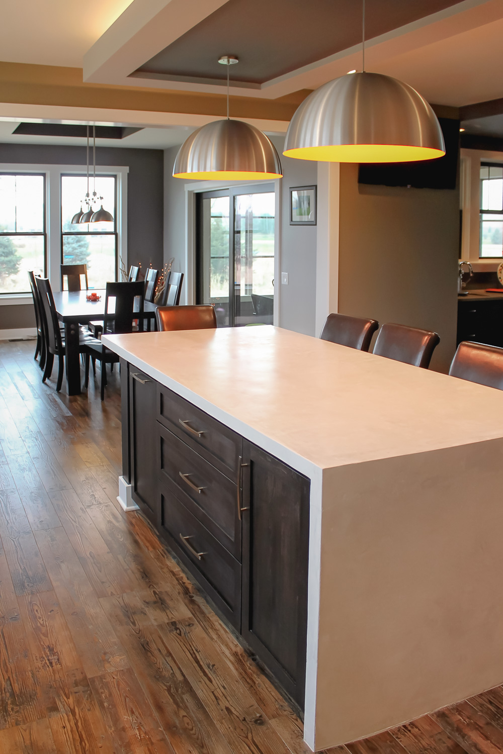 "- Many islands are 36"" to 42"" deep to accommodate cabinetry and an overhang for seating."