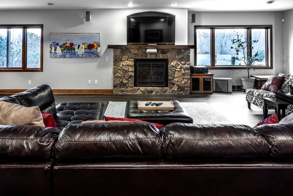 Remodeled Basement with a Large Family Room
