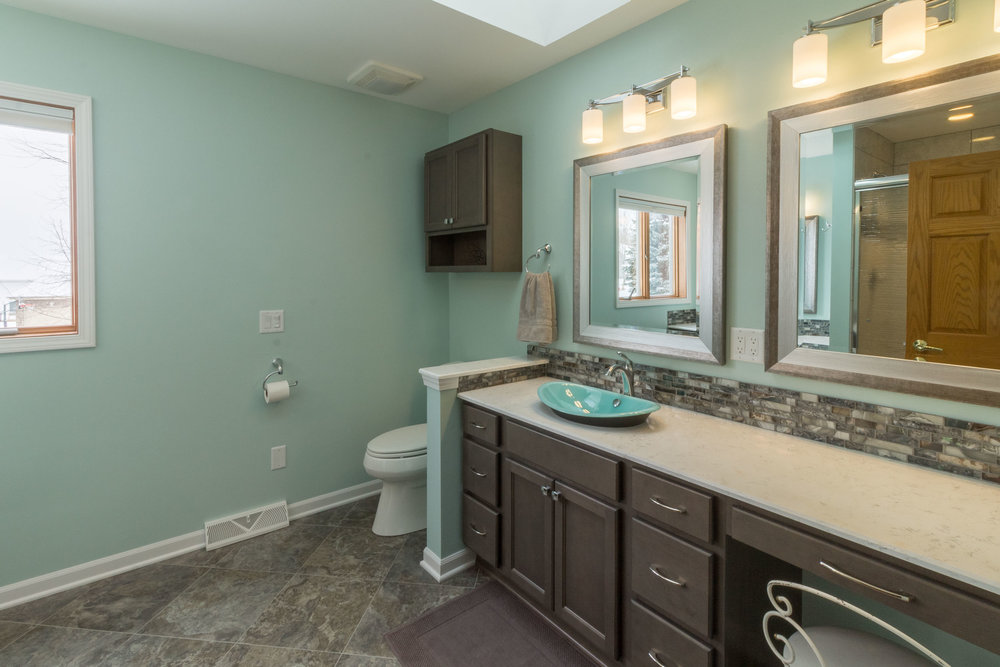 - Toilet topper cabinets still remain an important storage space, especially in a smaller bathroom. Designing ahead of time allows them to be integrated with the other cabinetry, and features such as open shelving can make them beautiful.