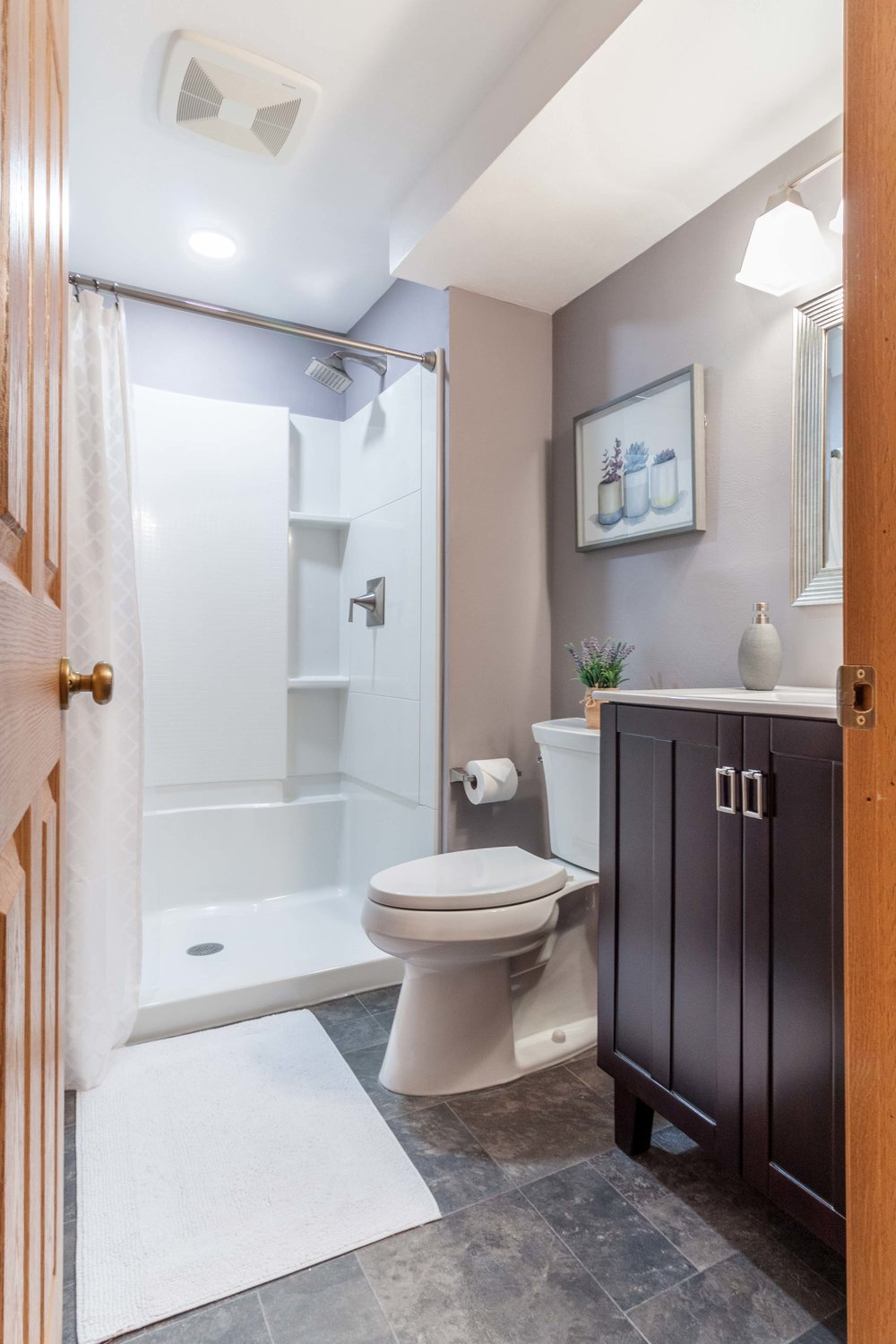A New Guest Bathroom In This Basement Remodel