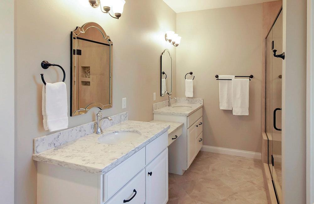 Dual Or Single Bowl Vanity Is One Or Two Master Bathroom Sinks Best Degnan Design Build Remodel