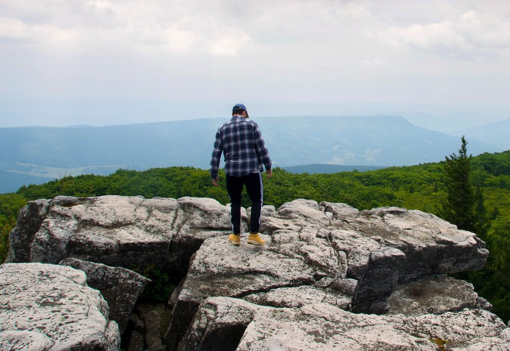 Austin O'Connor exploring Dolly Sods (by Tyler Pralley)