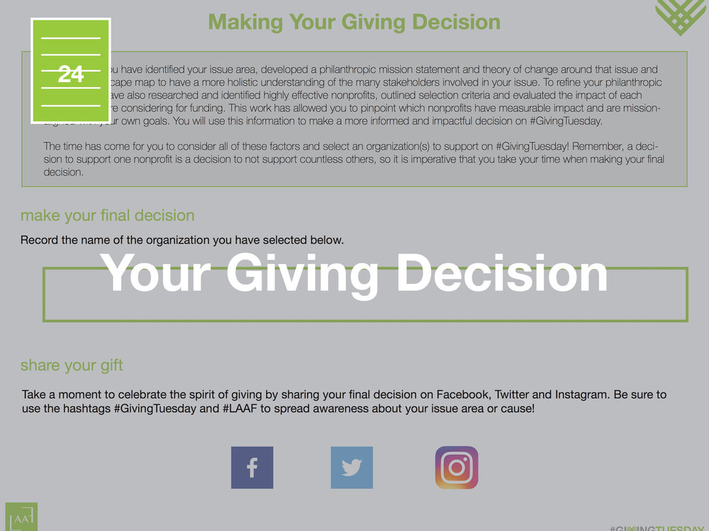 Making Your Final Decision