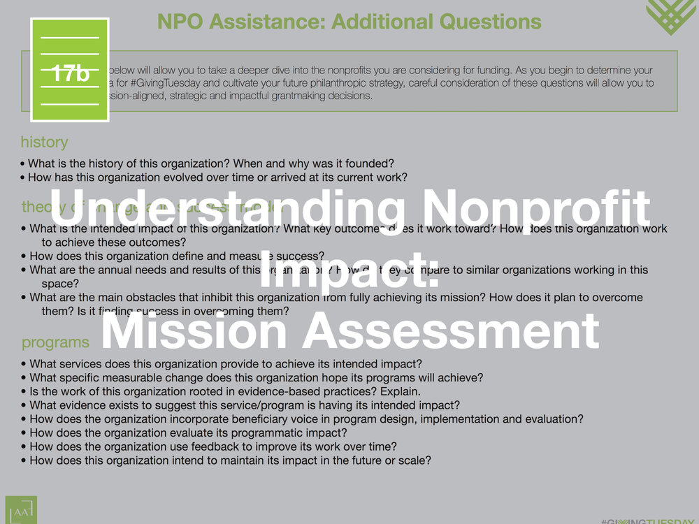 Understanding Nonprofit Impact: Mission Assessment