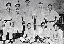 Mitsuyo Maeda's first students in Brazil.