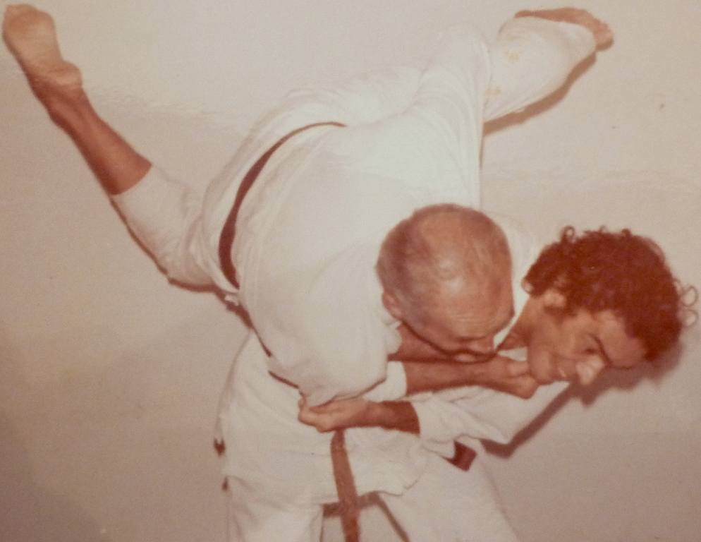 Grand Masters Pedro Valente and Helio Gracie in the 1970s.