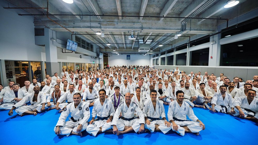The Valente Brothers, Royce Gracie, and the largest belt ceremony to date held at Valente Brothers.