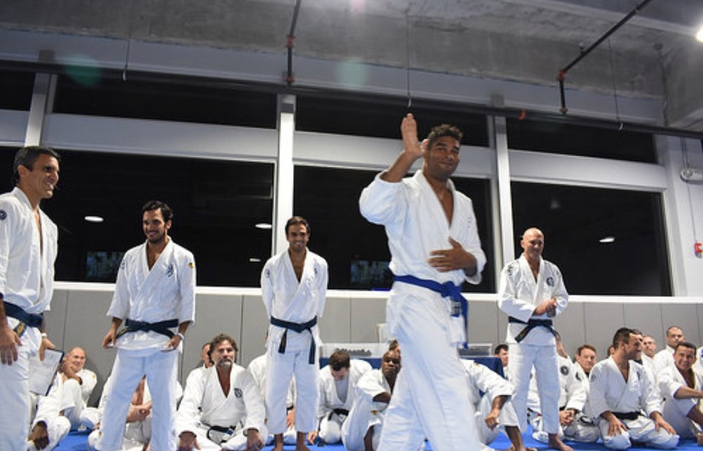 Alistair Overeem, a VB blue belt, attended the winter belt ceremony.