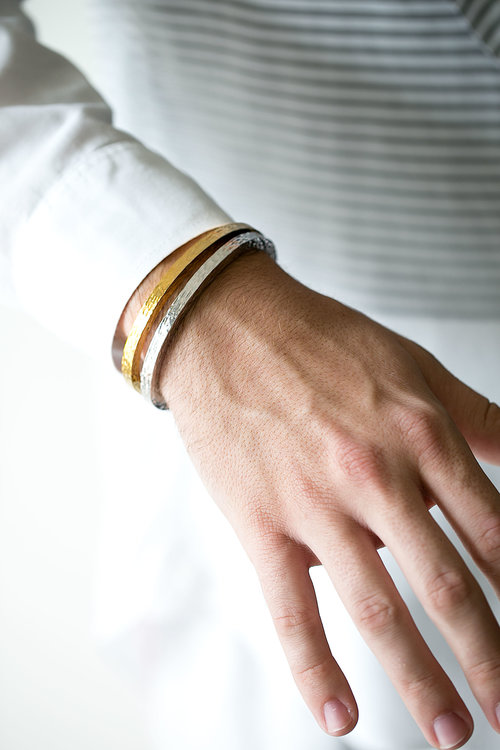 00c625da540 Solid Gold Cuff. mens-gold-and-silver-bracelets-stacked.jpg