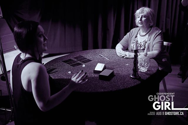 Like our pilot? Let us know what YOU want to see in the future... We're in development for a full season so tell us what you want! #GhostGirl #storyhive #fanghoul #fanghoulsunite #tarot #tarotreader #tarotcards #psychicreading #yeg #yegfilm #yegarts #behindthescenes #filming #filmset