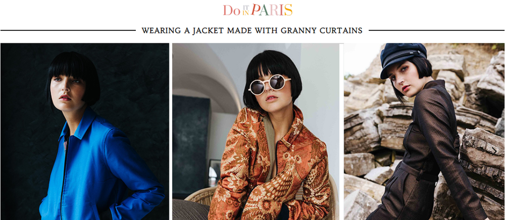 "DO IT IN PARIS - ""Wearing a jacket made with granny curtains""Par Clémence Renoux, le 20 décembre 2018 - DO IT IN PARIS""Coco Chanel would have love it."""