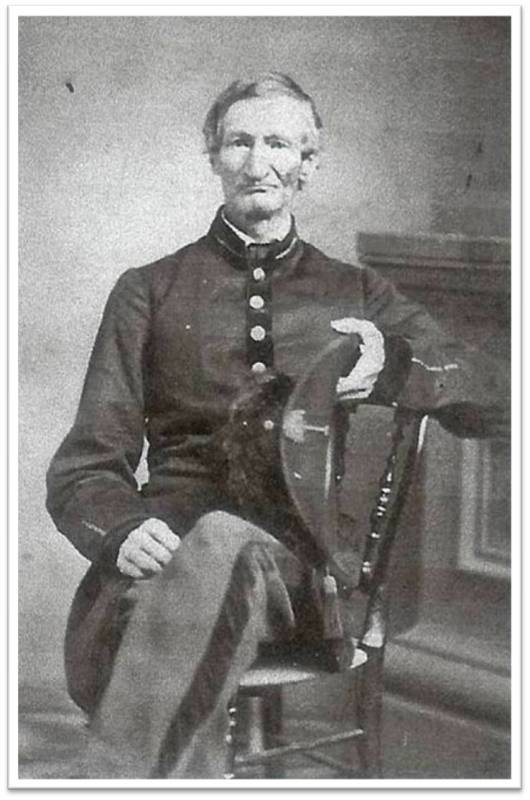 Though he was beyond the age limit,  Samuel McFall  enlisted in the Confederate Army. He was killed at the Battle of Gaines Mill near Richmond, Virginia, on June 27, 1862.