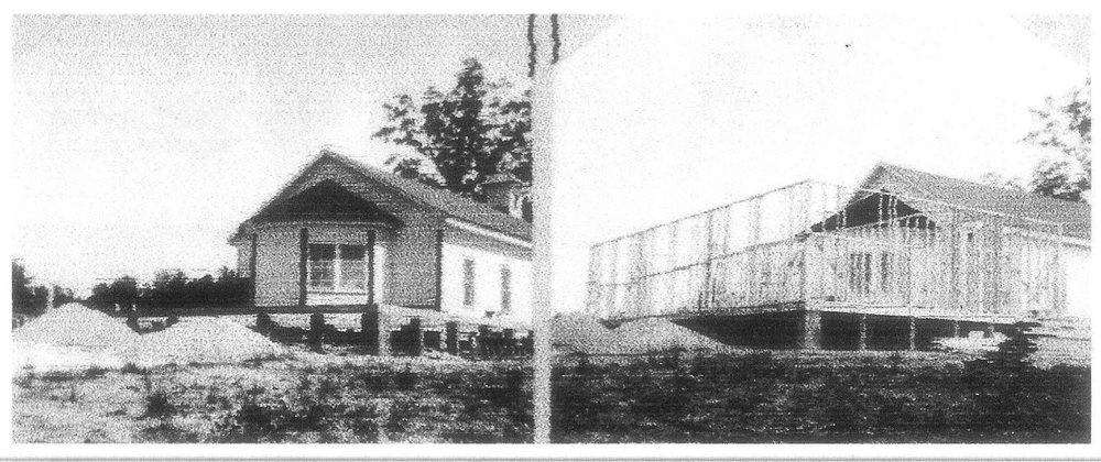 1952 construction of the classroom addition to the church.