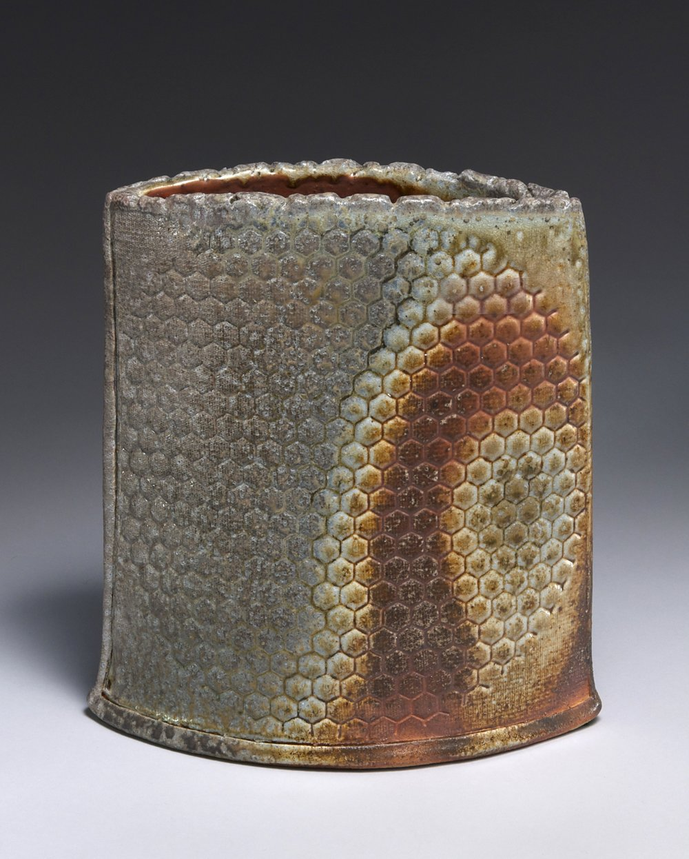 Slab vase with pressed pattern-Ken Pincus.jpg