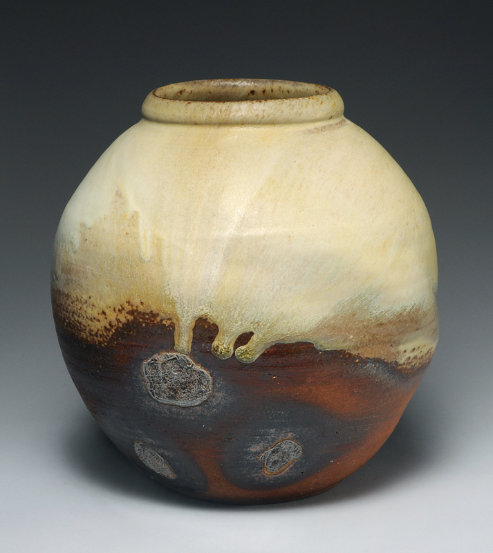 Pincus-Large jar, wood fired with ash glaze & shell marks-email.jpg