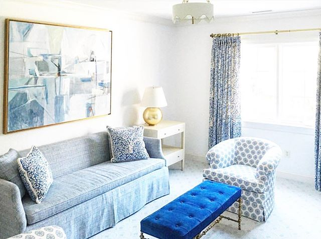 Still loving this all blue room for a special client in Philly! 💙