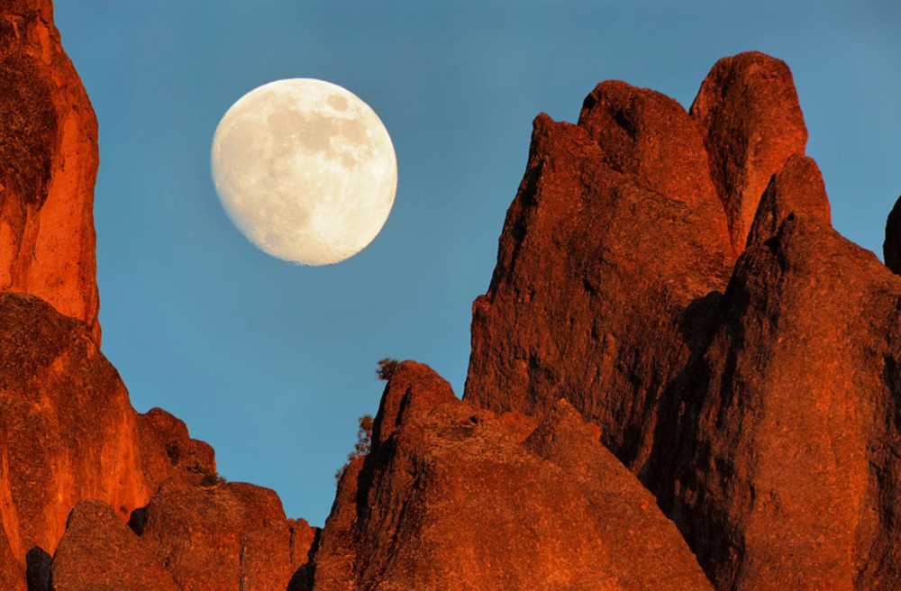Moonrise Over Pinnacles NP High Peaks, by: Don Smith