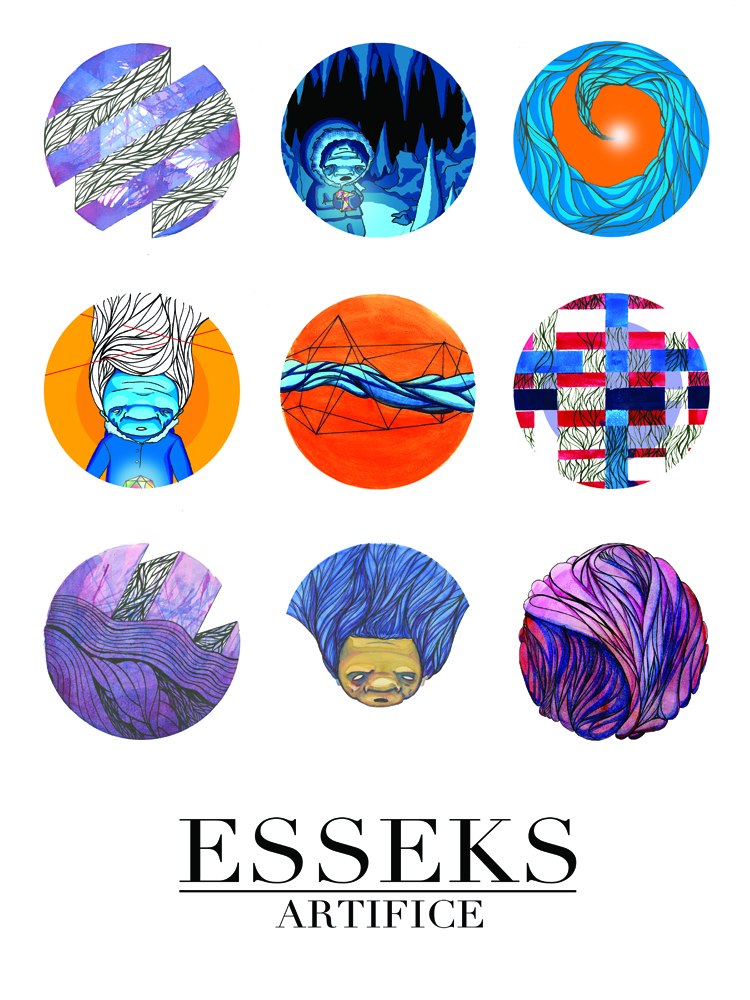 Esseks Artifice Dot Poster - watercolor, ink, digital, acrylic, prisma color