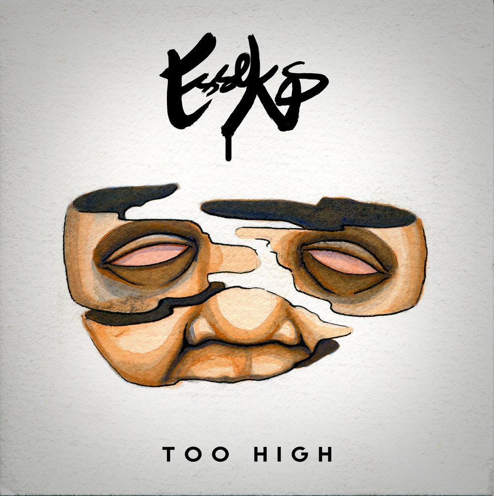 Too High Single Art - watercolor, photoshop